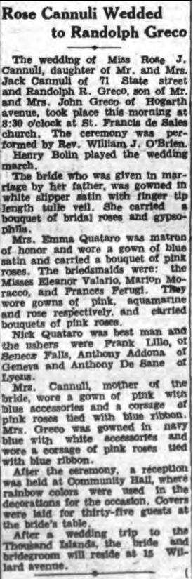 wedding article randolph greco 6july 1940